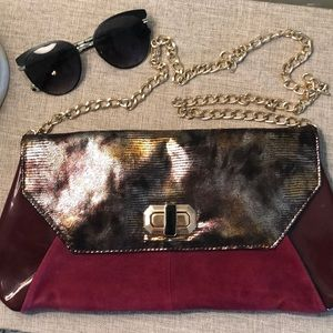 🍁🍁🍁Aldo Suede and Snakeskin Purse